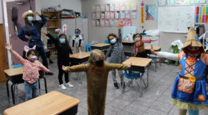 Students from Ms. Fuentes' class dressed as various characters