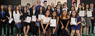 Students in the Da Vinci chapter of National Honor Society. For a complete list of students in the image, please see the full article at /?p=9102